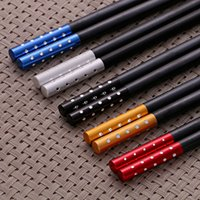 Vente en gros Beautiful Sushi Japanese Chopsticks Black Reusable Glass Fiber Chop sticks Livraison gratuite