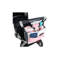 Wholesale Nappy Bag Accessories - Wholesale- Stroller Storage Bag Baby Stroller Organizer Large Capacity By Bag Stroller Carriage Hanger Accessory Baby Nappy Diaper Bag