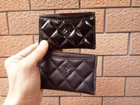 Wholesale s bag classic - NEW classic C fashion glossy PU Mini bag with card holder famous fashion card holder Coin bag Luxury VIP gift