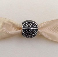 basketballanhänger für armbänder großhandel-Authentische 925 Sterling Silber Perlen Basketball Charme für europäische Pandora Style Schmuck Armbänder Halskette 791201EN44