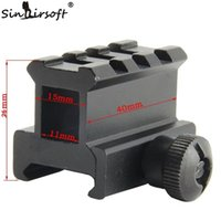 """Wholesale Riser For Picatinny Rail - Sinairsoft 0.83"""" High See-through See-thru Design 3-Slot Med-Profile Super Compact Riser Mount For Airsoft Picatinny Weaver Rails MNT-RS08S3"""