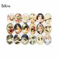 Wholesale image cabochon resale online - BoYuTe Mix Oval MM Victoria Style Diy Image Glass Cabochon Jewelry Accessories Parts Diy Exquisite Glass Stone
