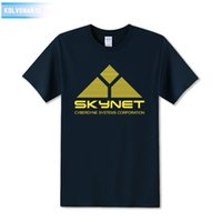 Wholesale Film Tee Shirts - Science Fiction Film Skynet Cyberdyne Systems Terminator Printed T-Shirt Tee Shirts Cool Tops Park Tracksuit For Men Film Fans
