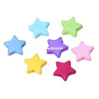 """esferas de acrílico da cor da letra venda por atacado-Doreen caixa hot-500 pcs misturado estrela acrílico spacer beads para fazer jóias diy 9x9mm (3/8 """"x 3/8"""") (b19424)"""