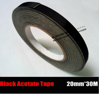Wholesale Adhesive Sticky Glue Tape - Wholesale- 2016 (20mm*30 Meters) Adhesive High Temperature Insulating Acetate Cloth Tape Black Glue Sticky for LCD Repair Coil Wraping, Fa