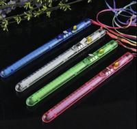 brinquedo de plástico leve venda por atacado-Luz De Cristal Vara Levou Concerto Brilho Vara Colorido Flash De Plástico Luz Elogio Eletrônico Varinha Mágica de Natal Brinquedos