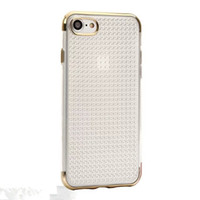 Wholesale gel covers for cell phones online – custom Ultra Thin Electroplating Bumper Gel TPU Cell Phones Case Dotted Protective Back Cover for Iphone plus