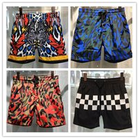 Wholesale Swimwear Clothes - new summer beach men shorts solid color cotton casual loose elastic waist shorts Swimwear Bermuda Male Letter Surf Life Men Swim clothing