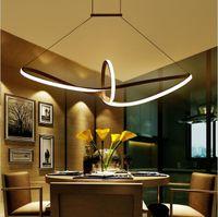 Wholesale kitchen light fixtures online - Modern Minimalist led pendant light Aluminum Infinity Suspension Hanging Chandeliers For Living Room Indoor Lighting Fixture AC90 V