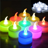 Wholesale Wholesale Flicker Tea Lights Candles - Christmas led tea lights battery operated tea light candle Flicker Flameless LED Tealight Wedding Birthday Party Christmas Decoration