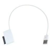 Wholesale Sata Usb For Dvd Laptop - Wholesale- White high quality USB 2.0 to 7+6 13Pin Slim line SATA DVD CD Rom Optical Drive Cable for Laptop computer notebook