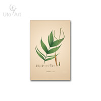 Wholesale Giclee Poster - Brief Tropical Plant leaves Canvas Art Print Poster Wall Pictures for Home Decoration Giclee Print Wall Decor