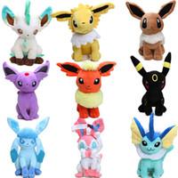 Wholesale wholesale digimon toys for sale - 9styles Hot cm Eevee Jolteon Umbreon Flareon Espeon Vaporeon Stuffed Doll Pocket Pikachu Plush Toys Digimon World Plushie Toys