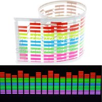 Music Rhythm LED Flash luz de la lámpara de sonido activado Equalizador Car Sticker 70 * 16 cm