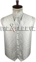 Wholesale Tuxedo Ascot Tie - free shipping white Tuxedo Waistcoat Sleeveless with ascot tie