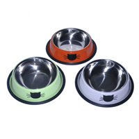 Wholesale Wholesale Ceramic Cat Bowls - Stainless Steel Bowl High-grade Stainless Steel Puppy Bowl Pet Cat Bowl