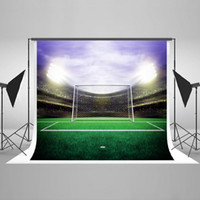 Wholesale Photo Field - 10x6.5 Football Theme Photography Backdrop Football Field Photo Background Cotton No Wrinkle Children Backdrops for Photographers HJ04321
