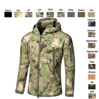 Wholesale Browning Xl Jacket Hunting - Outdoor Woodland Hunting Shooting Clothing Tactical Camo Coat Combat Clothing Camouflage Windbreaker Softshell Outdoor Jacket SO05-201