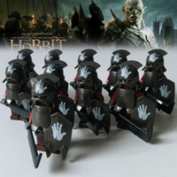 Wholesale Super Lord - 10pcs The Lord of the Rings Hobbit Mordor ORCS action figures Building Blocks super heroes bricks Toys for Children