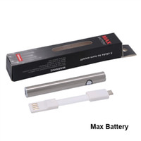 Wholesale pin batteries - Authentic Amigo Itsuwa Max Battery 380mah Variable Voltage Bottom Charge Preheating Battery Bottom Charged 4 Pin USB Fit 510 Thread tank DHL
