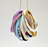 Wholesale Baby Headbands Craft - Soft Nude Nylon Headbands Baby Mini Hair Accessory DIY Crafting 15colors Hot Sale 50pcs lot Queenbaby