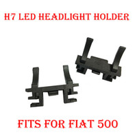 Wholesale Adapter For H7 - 2PCS H7 LED Headlight Conversion Kit Bulb Base Holder Adapter Retainer Socket Clip For Fiat 500 Ford Focus 2017 Low Beam Land Rover Discover