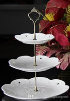 Wholesale Crown Cake Stand Fittings - gold and silver 45g crown Wedding Party 3 Tier Cake Plate Stand Center Handle Rods Fitting Tool Hardware #A01