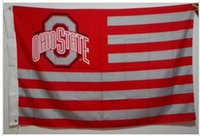 bandiera USA Ohio State University Buckeyes USA NCAA bandiera vendita calda merci 3X5FT 150X90CM Banner ottone fori in metallo OSU1