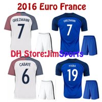 Top Thai quality 16 17 Euro France Home Soccer Jerseys blue maillot foot GRIEZMANN  POGBA MARTIAL Giroud 2016 2017 Away soccer jersey ... 032e46219