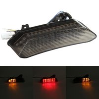 Wholesale R1 Led Light - LED TailLights Brake Tail Lights with Integrated Turn Signals Indicators Smoke Motorcycle For 2002-2003 Yamaha YZF R1