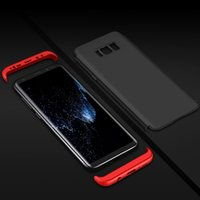Wholesale Armor Bodies - 360 Degrees Full Body Coverage Phone Case Armor 3 in 1 Phone Case For Samsung Galaxy S8 PLUS S7 Edge Note 8 iPhone 7 6 6s Plus 5 5s se