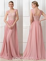 Wholesale Long Sexy Pink Tube Top - 2017 Lace A Line Bridesmaids Prom Dresses Tube Top And Dress Pink Charming Cocktail Party Cheap Custom Made Ladies Formal Long Evening Gowns