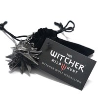Wholesale hunt animals - The Witcher 3 Necklace The Wild Hunt 3 Figure Game Wizard Medallion Wolf Pendant Necklace Chain Fashion Jewelry for Men Gift Drop Shipping