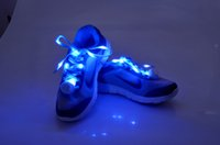 online shopping Led Luminous Shoes - 200pcs 2017 New Fashion-8th Gen. LED Nylon Flashing shoe lace Flash shoelace Glowing Luminous shoe laces DHL FEDEX EMS FREE shipping