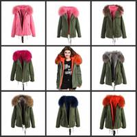 Wholesale wholesale furs coats - new arrival women winter coat fur parka 2017 brand raccoon fur pelzjacke luxury large detachable Rabbit hair collar parka femme
