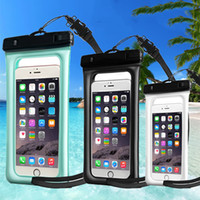 Wholesale Floating Body - Hotest Clear Waterproof Pouch Bag Float On Water Dry Case Cover For Smart Cell Phone iphone Samsung Swimming Beach Up To 6 inch