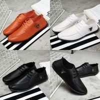 Wholesale Social Shoes - Fashion Men's Small Leather Shoes Trend Of Social Guy Leather Shoes Breathable Men's Casual Shoes New S-027