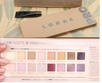 Wholesale Primer Shadow - Top!LORAC PRO 3 PALETTE 16 color eyeshadow with eye Primer Powder Eyeshadow Blush Makeup Cosmetic Palette Eye Shadow Palette 8 pcs free DHL
