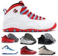 Wholesale Stretch Lace China - New Retro 10 Basketball Shoes Men Women Black Air Retros 10s X Men's Women's Sport Femme Homme China Original Training Sneakers Shoes Sale