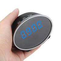 ip ir remoto venda por atacado-WIFI Relógio mini câmera IP IR Night Vision Home Security Cam Relógio Digital Câmera com Detecção de Movimento de Monitoramento Remoto Nanny Cam Panda