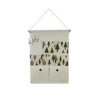 Wholesale Hangs Closet - Cotton Linen Over Wall Door Bag Closet Window Hanging Storage Case Organizer Bag with Hooks 7-Pockets (Tree)
