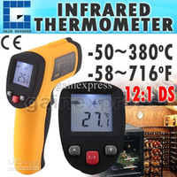 Wholesale Infrared Target - IR-G300 Handheld Non-Contact 12:1 DS IR Laser Infrared Digital Thermometer with Laser Target Pointer