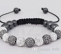 Wholesale Cheap Ceramic Balls - New Style!10mm Mixed White best cheap Hot White disco Ball Beads Bangles VSD Crystal Shamballa Bracelet jewelry Christmas Gift q83