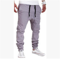 Wholesale Flax Pants - Wholesale- Brand New Summer Linen Casual Pants Men Solid Thin Breathable Joggers Sweatpants Flax Cotton Big Size M-XXXL Straight Trousers