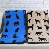 Quilt Pet Cats Dog Pug Head Throw Blanket Coral Fleece Flannel Blanket Multifuncional Necessary Nap Cobertores 75 * 100cm