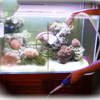 pompe à eau propre achat en gros de-Arrivée en plastique Aquarium Clean Vacuum Changement d'eau Gravel Cleaner Fish Tank Siphon Pompe