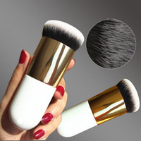 Wholesale white make up foundation resale online - Hot Chubby Pier Foundation Brush Flat Cream Makeup Brushes Professional Cosmetic Make up Brush