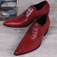 los hombres se visten los cordones de los zapatos de vestir al por mayor-Zapatos de hombre Zapatos con cordones y estampados con cordones Zapatos de vestir de diseño 2017 Cool Italian Oxford Shoes Mocasines