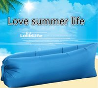 Wholesale pics Lazy Portable Instant Air Inflation Cloth Sofa Bed for Outdoor Camping Gardan Sleeping Bag Home Use