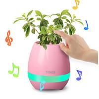 Wholesale Plant S Light - New Bluetooth Smart Touch Music Flowerpots Plant Piano Music Playing Wireless Flowerpot colorful light Flower pots (whitout Plants)